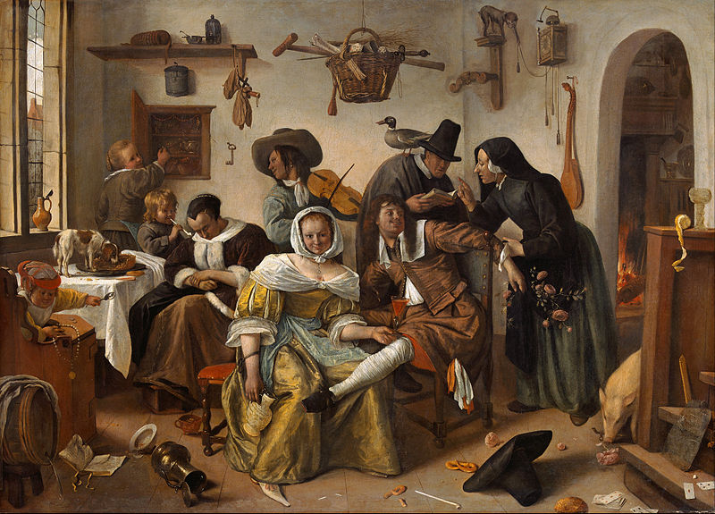 cc commons.wikimedia.org Jan Steen - Beware of Luxury (In Weelde Siet Toe) - Google Art Project