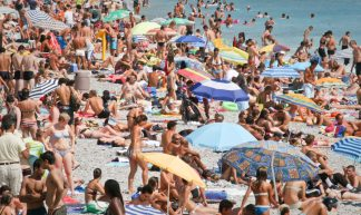 crowded beach - mark notari