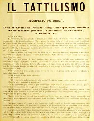 © Museo Omero Collezione scultura del novecento e contemporanea Manifesto Futurista