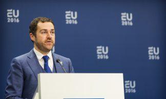 Persconferentie Justitie / Pressconference Justice - EU2016 NL