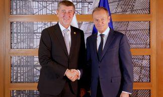 President Tusk meets Andrej Babis, Czech Prime Minister - European Council President