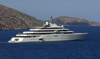 "the elegant yacht ""Eclipse"" of Mr. Abramovich - Eduard Marmet"