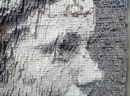 cc Flickr rocor photostream Nathalie Boutté detail Ester (Profile), 2014. Japanese paper, ink. Bedford Gallery