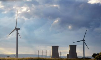 old nuclear power plant & new wind turbine - Jeanne Menjoulet