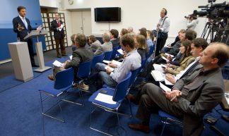 Persconferentie in Nieuwspoort - Minister-president Rutte