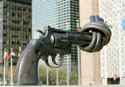 cc Flickr United Nations Photo Non-Violence sculpture