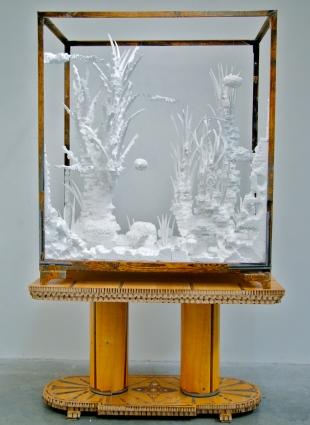 © Couzijn van Leeuwen A very dry aquarium on a table.