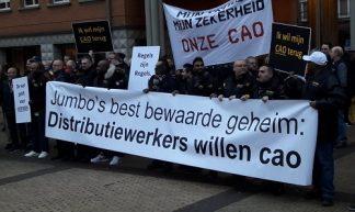 © FNV actie bij rechtbank Den Bosch 17 december 2018