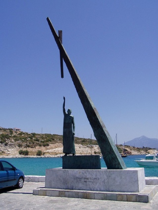 cc Flickr Anders Gustavson photostream Statue of Pythagoras in the harbour of Pythagorio