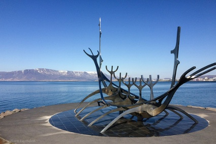 cc Flickr Bill Herndon photostream Sólfarið (Sun Voyager) sculpture - Reykjavik, Iceland