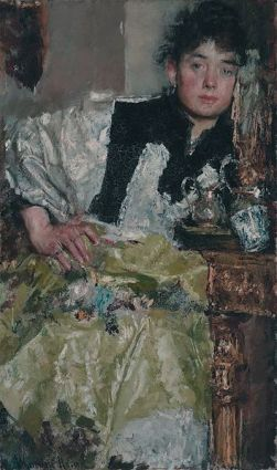 cc commons.wikimedia.org Lost in Thought, by Antonio Mancini.jpg. Source De Mesdag Collectie