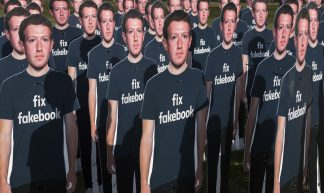 Avaaz Facebook/Zuckerberg rally on Capitol lawn - Avaaz