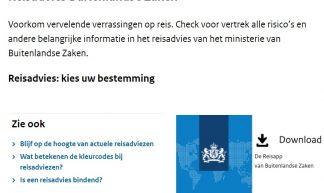 Schermafbeelding webpagina Ministerie van Binnenandse Zaken