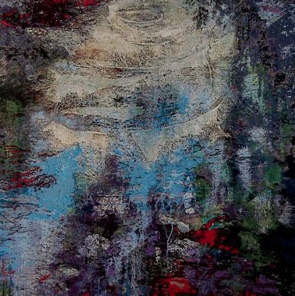 © Marianne Benkö - Uit de zuivere bron 250x250cm zijde wandtapijt (002)
