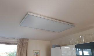 Foto van infraroodverwarming aan het plafond