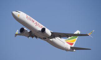 Ethiopian Airlines ET-AVJ takeoff from TLV - LLBG Spotter
