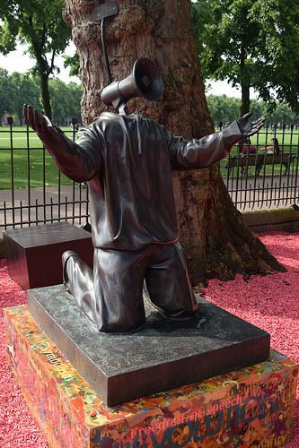 cc Flickr Anne and David photostream Moco Museum bronze statue called Ohm Boy. 2014 by Hugo Farmer