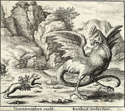 cc commons.wikimedia.org File Wenceslas Hollar - The basilisk and the weasel
