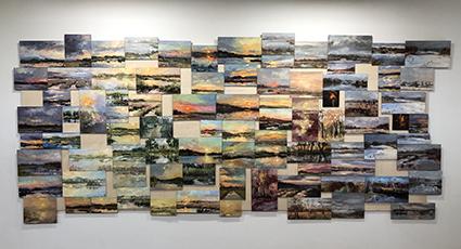 © Emelie Jegerings en Catharina Driessen - Vier seizoenen, gezamenlijk werk in museum De Wieger