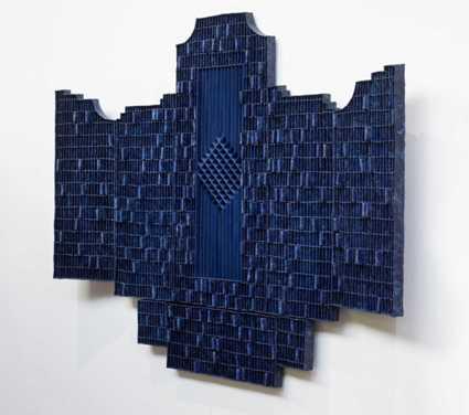© Levi van Veluw, Beyond Matter, sculpture, 200x200cm, polymer clay, pigment, wood, metal frame, 2019