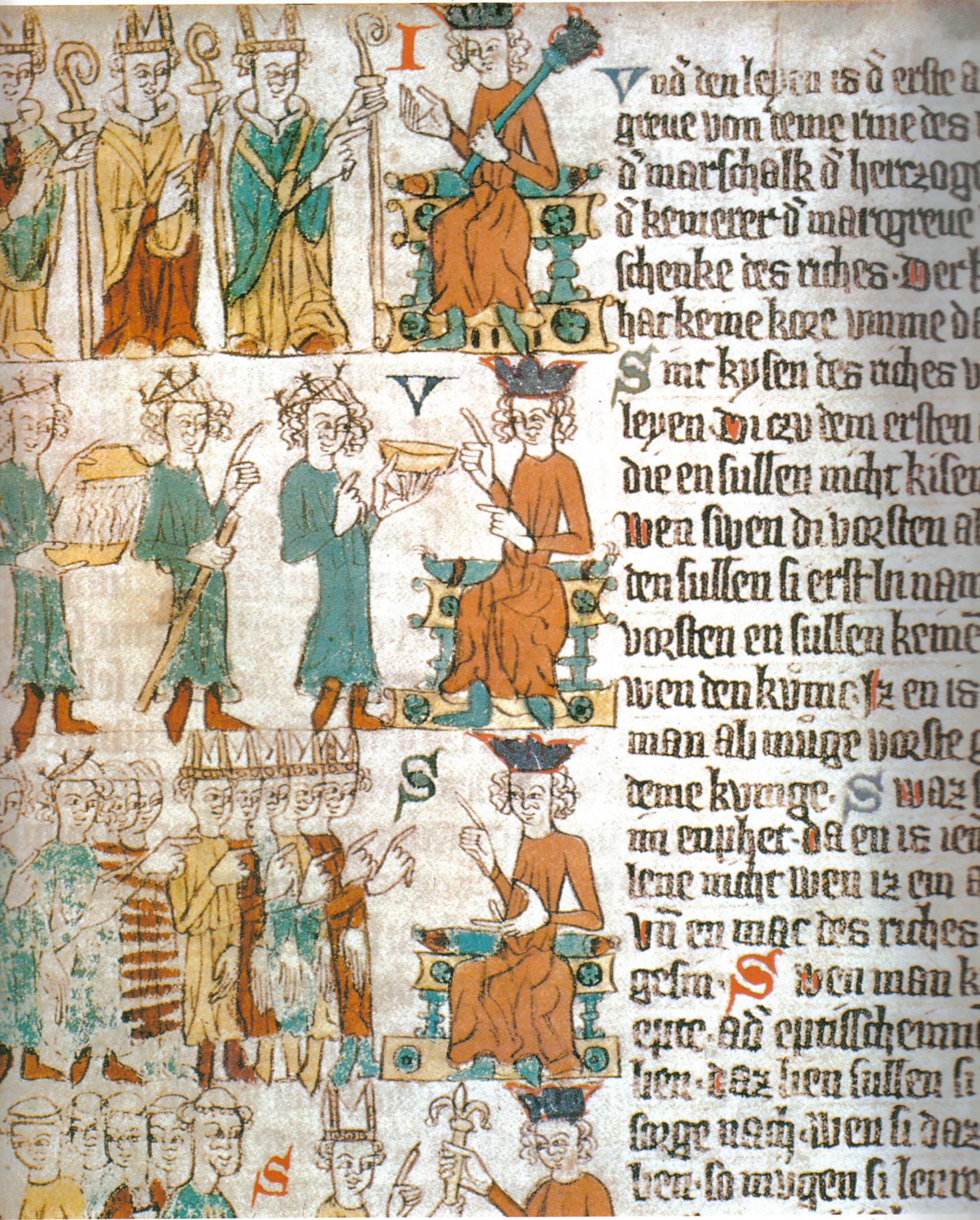 cc commons.wikimedia.org Heidelberger Sachsenspiegel die wahl des deutschen Königs