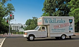 wikileaks truck whitehouse - Wikileaks Mobile Information Collection Unit