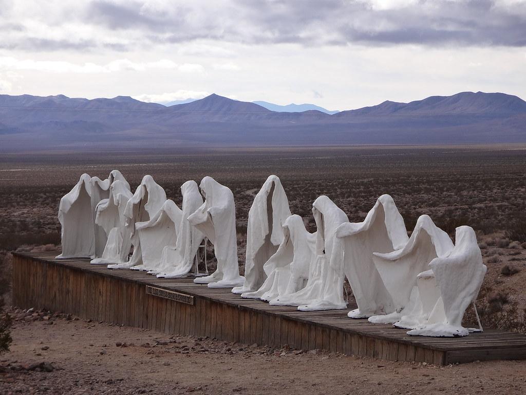 cc Flickr Eric Wilde photostream desert ghosts - the last supper as seen by an artist in a ghost town