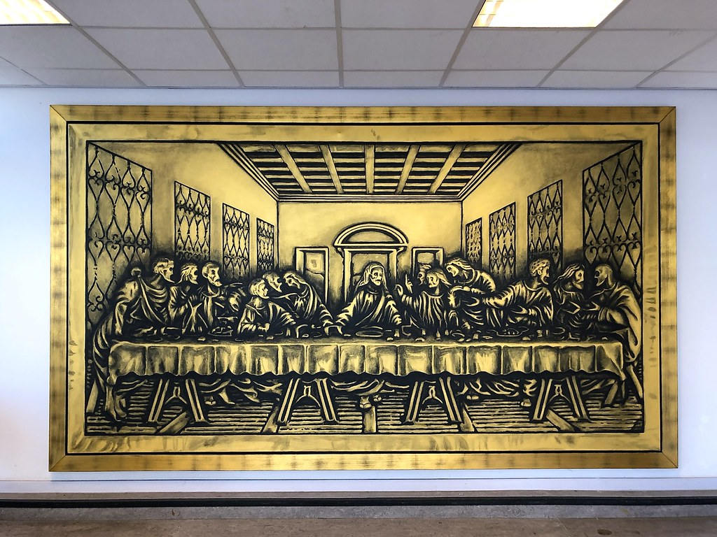 cc Flickr FaceMePLS photostream Rob Scholte Museum - Den Helder Het Laatste Avondmaal The Last Supper by Dutch artist Rob Scholte