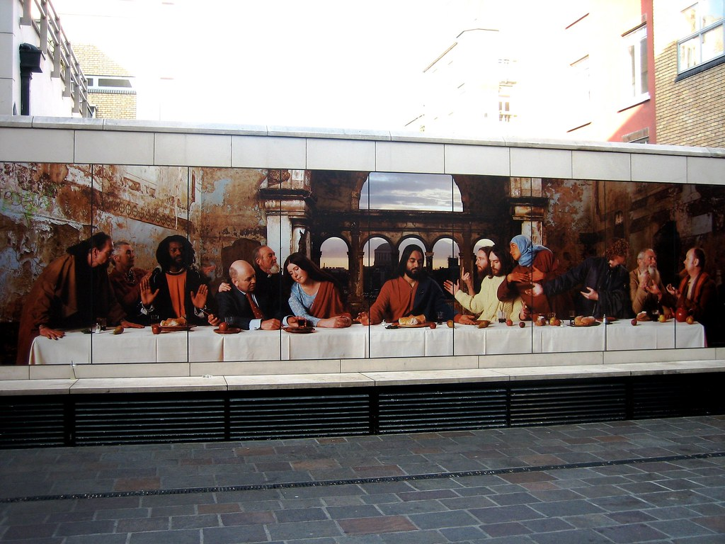 cc Flickr Kieran Lynam Last Supper. The photographic reconstruction of The Last Supper, by artist John Byrne