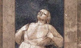 Woede. Fresco van Giotto (Scrovegni-kapel, Padua)