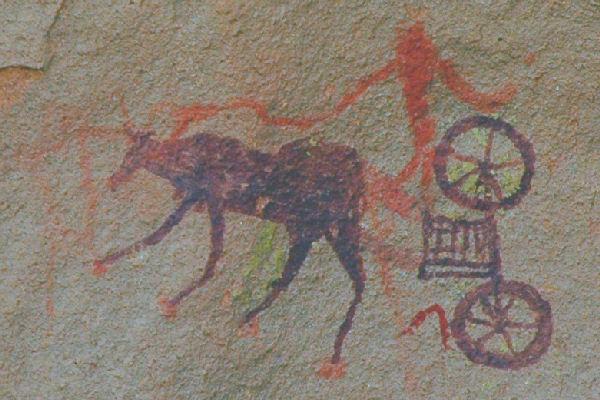 Schildering van een kar (Tina Nivin; (c) Livius.org)
