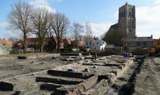 Foto Roel van Deursen Archeologische opgravingen Catharijneklooster - Brielle 2016-03-16 (3) - Roel van Deursen - Spijkenisse / Nissewaard - Nederland