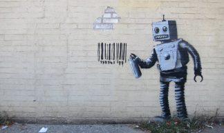Banksy NYC, Coney Island, Robot - Scott Lynch