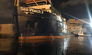 One of the detained SeaWatch vessels in the Malta. - Sinn Féin