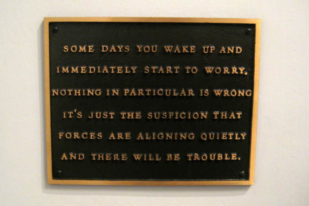 cc Flickr Wally Gobetz NYC - MoMA, Jenny Holzers Living - Some days you wake and immediately