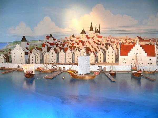 Reconstructie van de haven van Visby