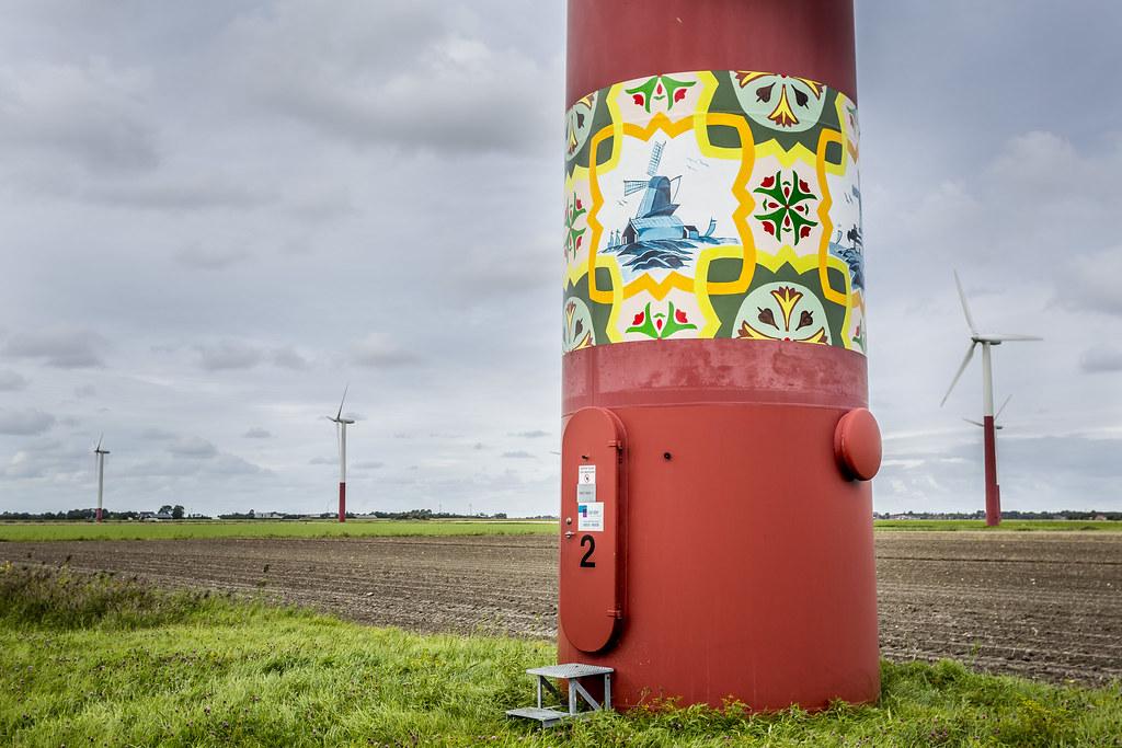 cc Flickr Kunst op Nuon windmolens. Foto Nuon -Jorrit Lousberg