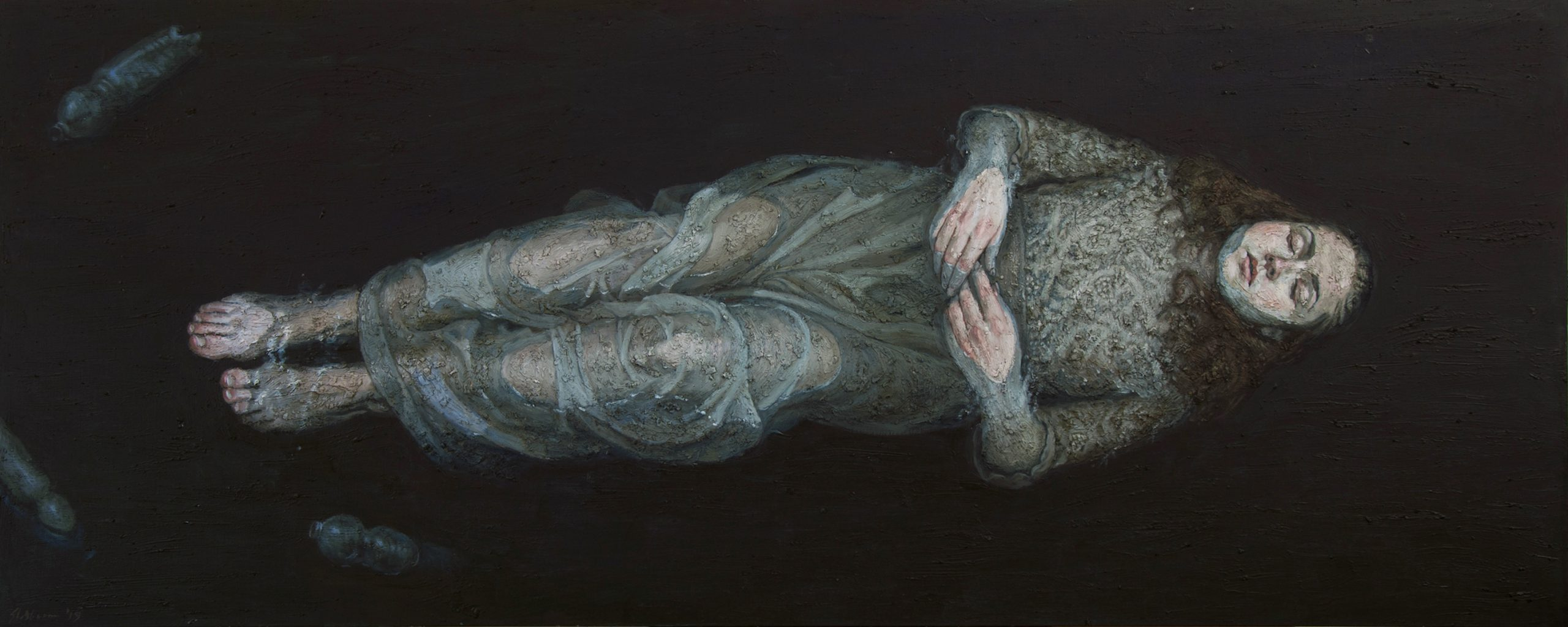 © Museum Martena Gert Jan Slotboom Drowning Season - 250 cm x 100 cm - 2019