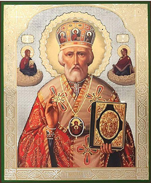 Moderne Russische icoon van Sint Nicolaas