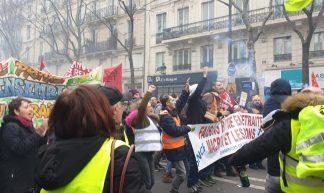 manif du 28 décembre 2019 à Paris contre le projet de réforme des retraites - Jeanne Menjoulet