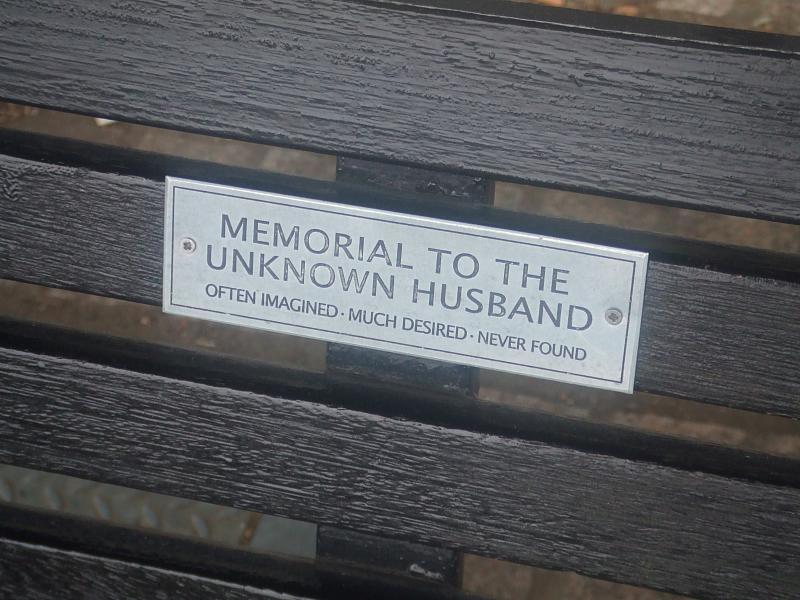 cc Flickr Matt Brown photostream Memorial to the unknown husband