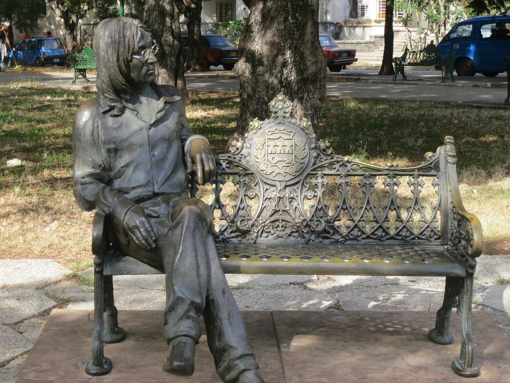 cc Flickr Terry Feuerborn photostream John Lennon Statue, John Lennon Park, Havana, Cuba, 2012