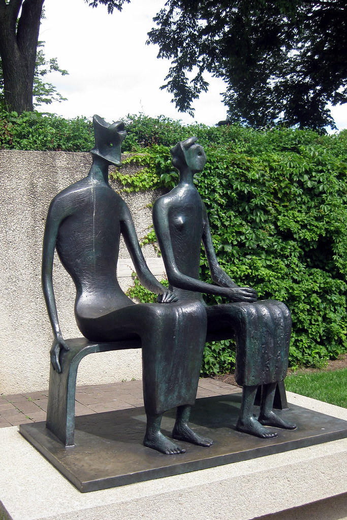 cc Flickr Wally Gobetz photostream Washington DC - Hirshorn Museum and Sculpture Garden - King and Queen by Henry Moore