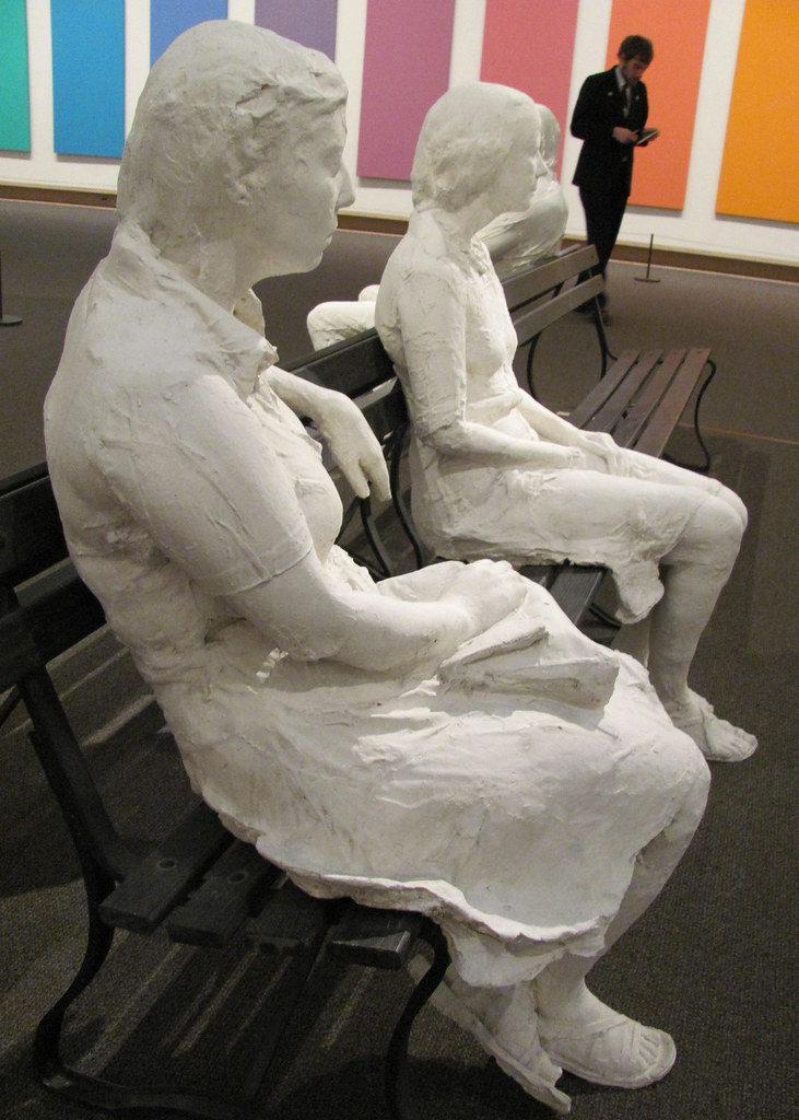 cc Flickr rocor George Segal Three People on Four Benches, 1979. Plaster, wood and metal (1924-2000).