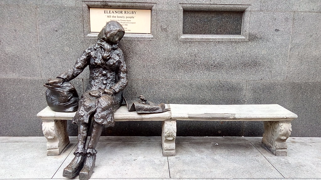 cc Flickr theodoritsis photostream Eleanor Rigby statue, Liverpool