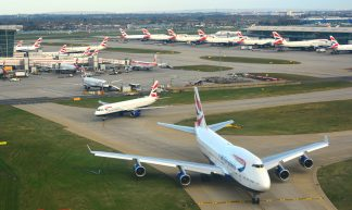 Landing at London Heathrow - Mike McBey