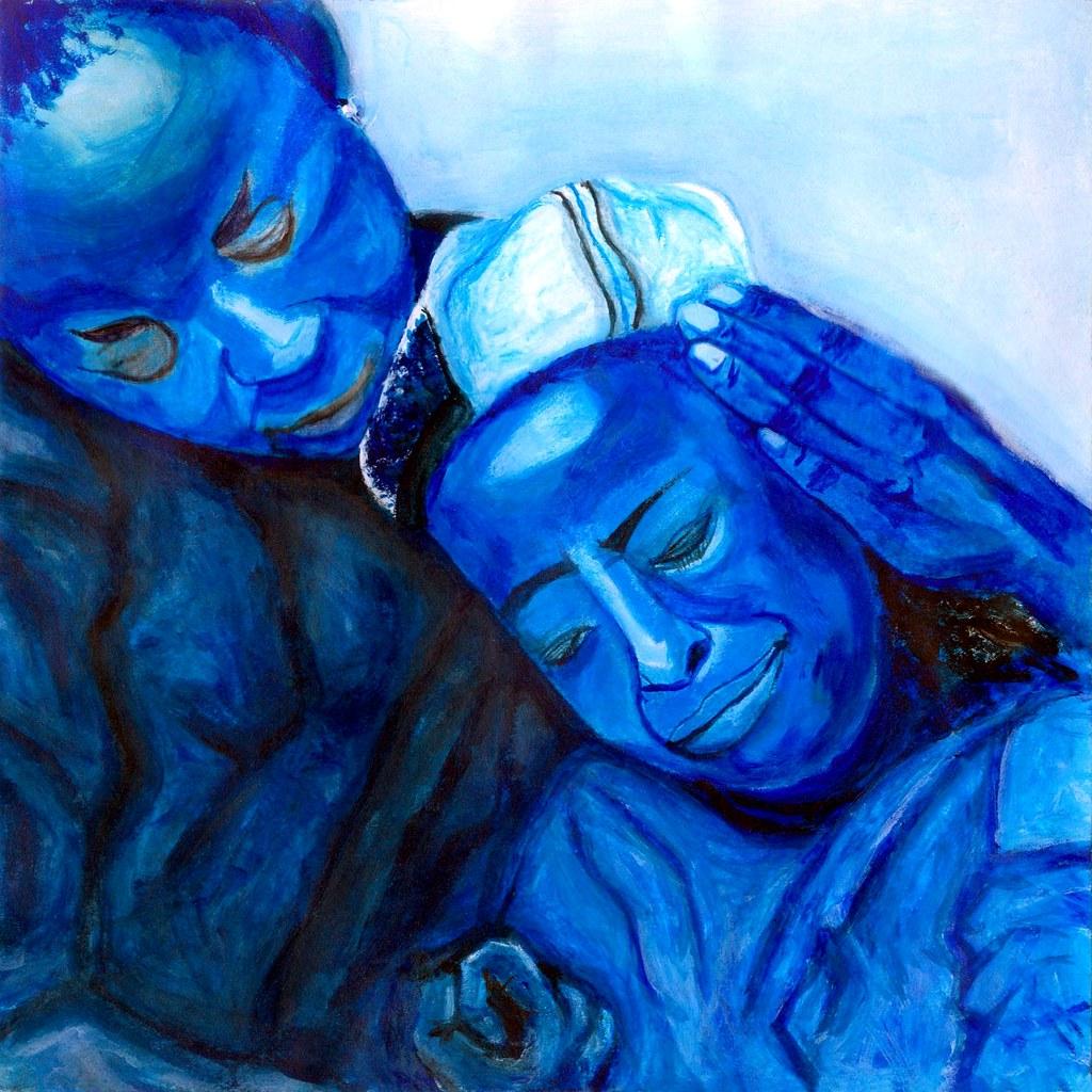 cc Flickr Jen Wen Luoh photostream Pain in Blue by Jen Wen Luoh (Acrylic) – 2001