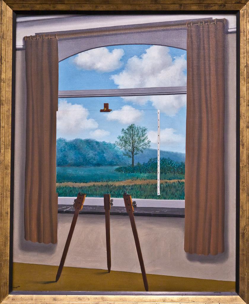 cc Flickr ehpien photostream La condition humaine, 1933 Rene Magritte