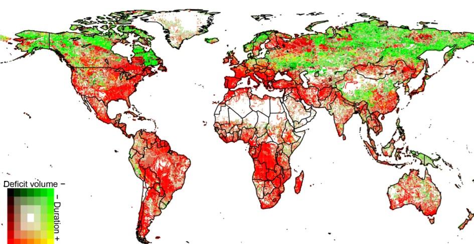via Studium Generale Utrecht wereldkaart droogte