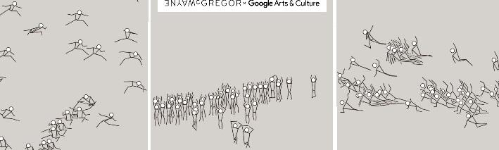 © Wayne McGregor schermafbeelding A van Living Archive op Google Arts & Culture